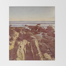 Jagged Shore Throw Blanket