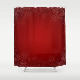 Snowflake background Shower Curtain