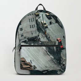 Moody cityscape Backpack