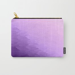 Lavender Texture Ombre Carry-All Pouch