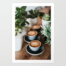 Latte + Plants Art Print