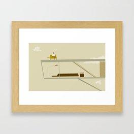 sur le toit Framed Art Print