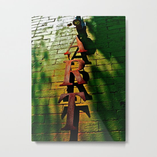 Art on Bricks Metal Print