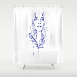 Freckle - cowgirls rule! Shower Curtain