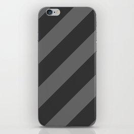 Stripes Diagonal Black & Gray iPhone Skin