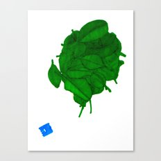 Still a Little Green Canvas Print
