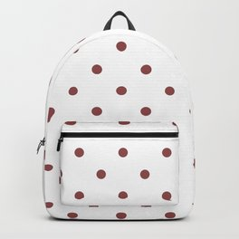 Polka Dots Pattern: Rustic Red Backpack