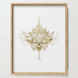 Gold Lotus Serving Tray