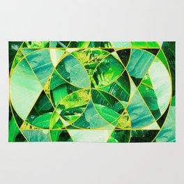 Hawaiian Jungle Abstract Mosaic Rug