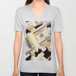 Flying dollars Unisex V-Neck
