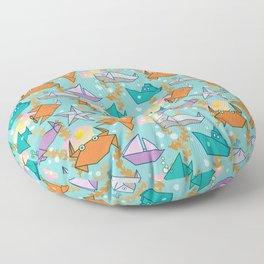 Origami Ocean Floor Pillow
