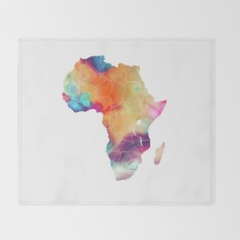 Africa Map 3 Throw Blanket