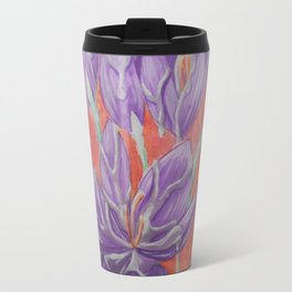 Flowers and silver Travel Mug