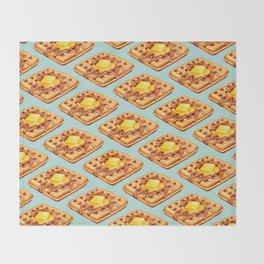 Waffle Pattern Throw Blanket