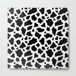 Black and White Giraffe Fur Animal Print Metal Print