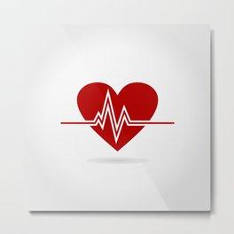 Heart life Metal Print