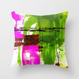 Teal Splendor No.1m by Kathy Morton Stanion Throw Pillow