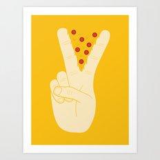 Peace-za Art Print