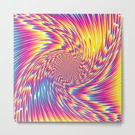 Colorful Spiral White Metal Print