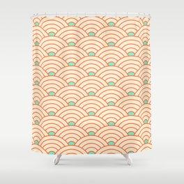 Japanese fan pattern II Shower Curtain