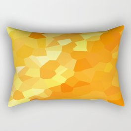 Polygonal Yellow and Orange Stained Glass Mosaic Rectangular Pillow