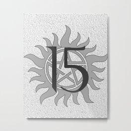 SPN Print (Grey) Metal Print