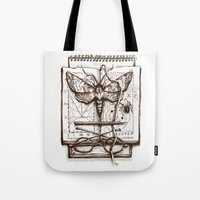science Tote Bags featuring Science by Ulla Thynell