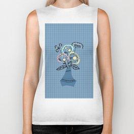 Quilling, flowers in vase Biker Tank