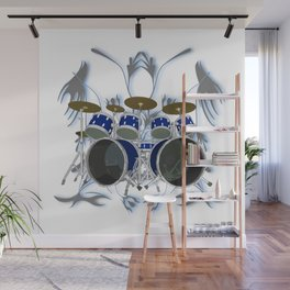 Drum Kit with Tribal Graphics Wall Mural