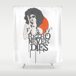 Retro Never Dies Shower Curtain
