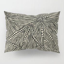 Black and Ivory Triangles Pillow Sham