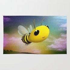 Bee Flying On Colour Sky Rug