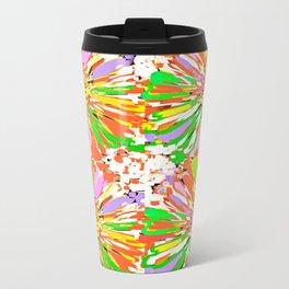 Dahlia Colorburst Abstract #1 Travel Mug