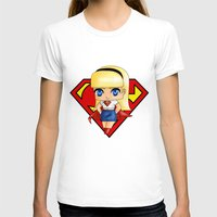 supergirl T-shirts featuring Chibi Supergirl by artwaste