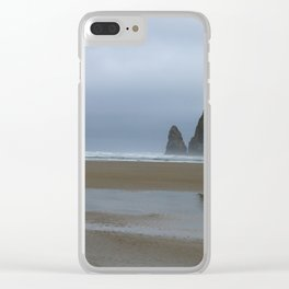 Misty Morning at Cannon Beach Clear iPhone Case