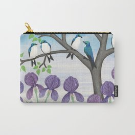 tree swallows & irises Carry-All Pouch