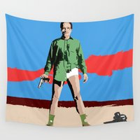 walter white Wall Tapestries featuring Walter White by Becky Rosen