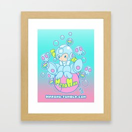 Kawaii Bomber Framed Art Print