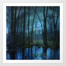 Woodland Twilight Art Print