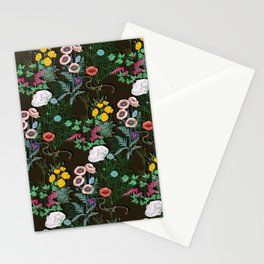 papaveraceae black Stationery Cards