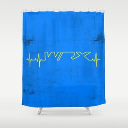 WRX Heartbeat Shower Curtain