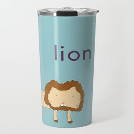 L is for Lion Travel Mug