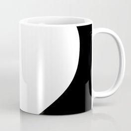 Heart (White & Black) Coffee Mug