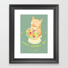 Happy Meowther's Day Framed Art Print