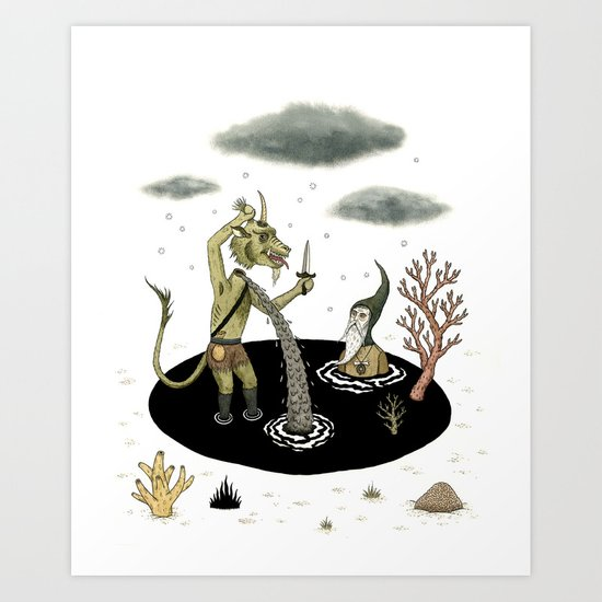 Shifting Tide Pool Art Print