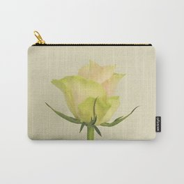 A single pink rose bud Carry-All Pouch