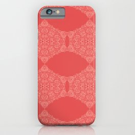 Lace Pattern Neck Gator Lacey Red iPhone Case