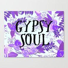 Gypsy Soul Flowers - Purple Floral Boho Hippy Florals Canvas Print