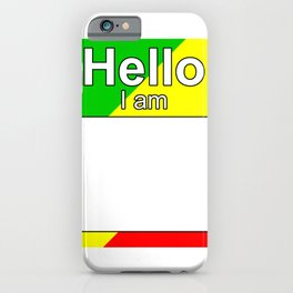 Hello I am from Republic of the Congo iPhone Case
