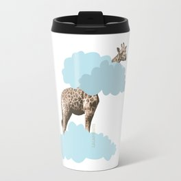 Giraff in the clouds . Joy in the clouds collection Travel Mug